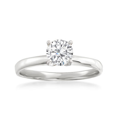 .75 Carat Diamond Solitaire Ring in 14kt White Gold
