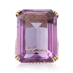 C. 1960 Vintage 25.00 Carat Amethyst in 14kt Yellow Gold, , default
