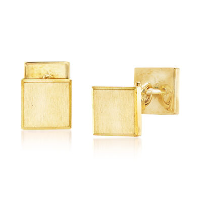 C. 1970 Vintage Men's 18kt Yellow Gold Cuff Links , , default