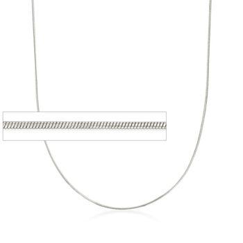 """Italian 1mm Sterling Silver Adjustable Slider Snake Chain Necklace. 24"""", , default"""