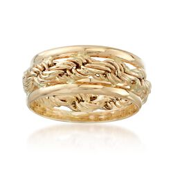 14kt Yellow Gold Rope-Style Ring, , default