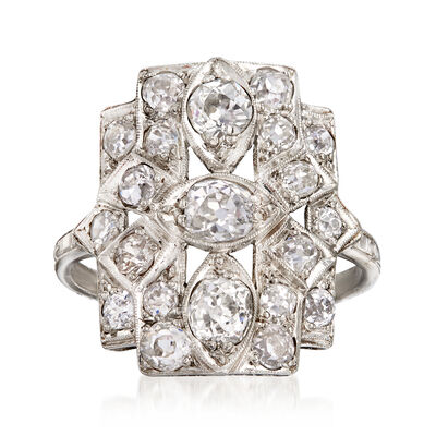 C. 1940 Vintage 1.80 ct. t.w. Diamond Dinner Ring in Platinum, , default