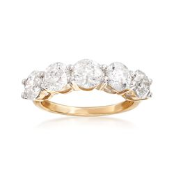 3.00 ct. t.w. Diamond Five-Stone Ring in 14kt Yellow Gold, , default