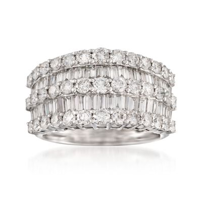 2.60 ct. t.w. Diamond Multi-Row Ring in 14kt White Gold