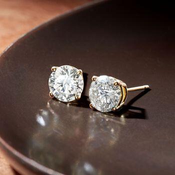 2.00 ct. t.w. Diamond Stud Earrings in 18kt Yellow Gold, , default