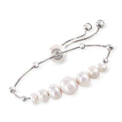 4-9.5mm Cultured Pearl Bolo Bracelet in Sterling Silver