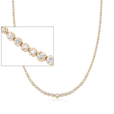 5.00 ct. t.w. Graduated Diamond Tennis Necklace in 14kt Yellow Gold, , default