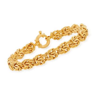 Italian 14kt Yellow Gold Byzantine Bracelet