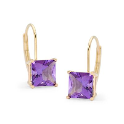 1.80 ct. t.w. Amethyst Earrings in 14kt Yellow Gold , , default
