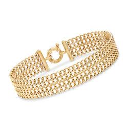 Italian 18kt Yellow Gold Infinity-Link Bracelet, , default
