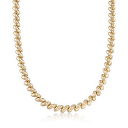 "Italian 14kt Yellow Gold San Marco Necklace. 17"", , default"