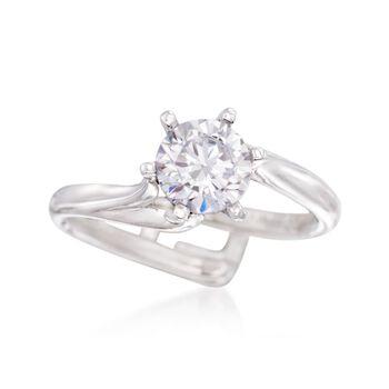 Gabriel Designs 14kt White Gold Six-Prong Engagement Ring Setting, , default
