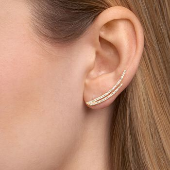 .50 ct. t.w. Diamond Double Ear Crawlers in 14kt Rose Gold, , default