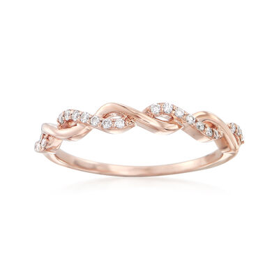 .12 ct. t.w. Diamond Twist Ring in 14kt Rose Gold, , default