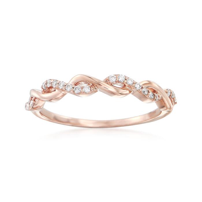 .12 ct. t.w. Diamond Twist Ring in 14kt Rose Gold