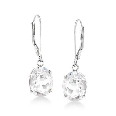 7.00 ct. t.w. White Topaz Drop Earrings in Sterling Silver, , default