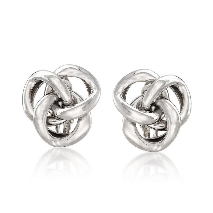 Love Knot Clip-On Earrings in Sterling Silver