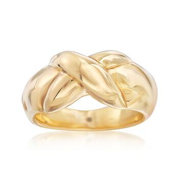 Italian 14kt Yellow Gold Crisscross Ring, , default