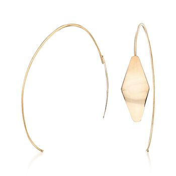 Italian 14kt Yellow Gold Diamond-Shaped Drop Earrings, , default