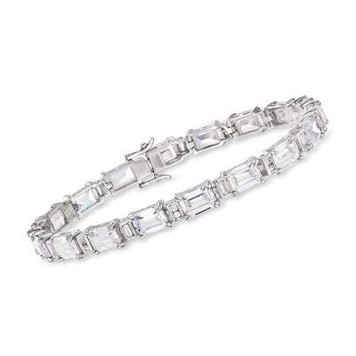 18.90 ct. t.w. CZ Bracelet in Sterling Silver, , default