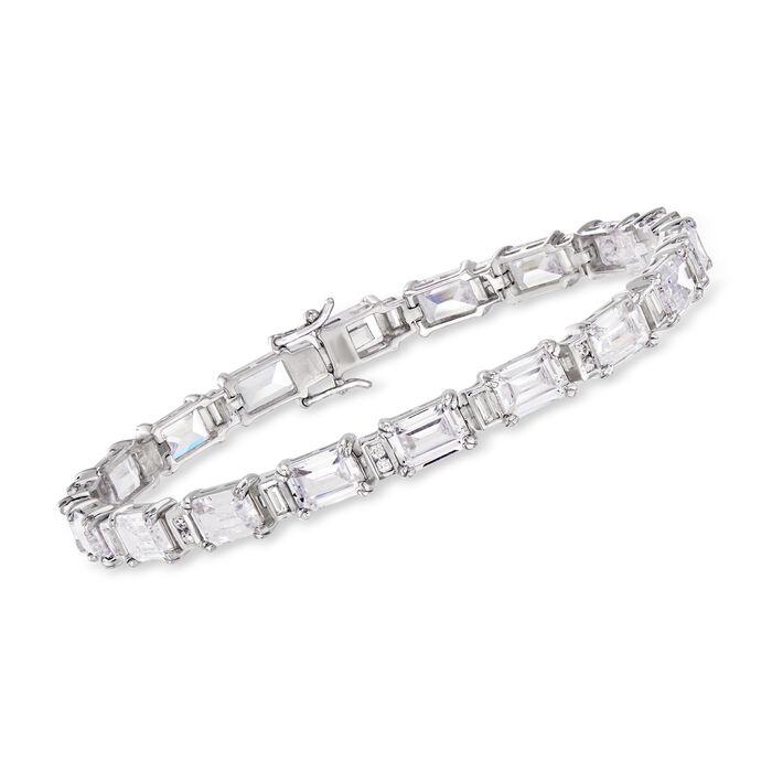 18.90 ct. t.w. CZ Bracelet in Sterling Silver