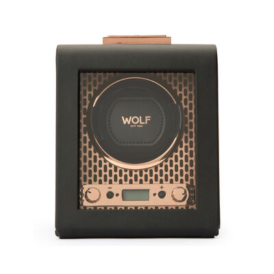 "Wolf ""Axis"" Copper-Plated Steel Single Watch Winder, , default"