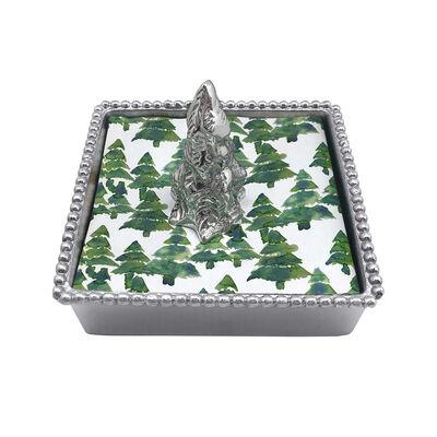 Mariposa Evergreen Tree Beaded Napkin Box