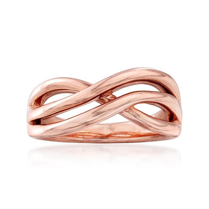 14kt Rose Gold Open-Space Twist Ring, , default