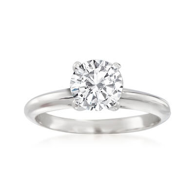 1.23 Carat Certified Diamond Solitaire Ring in 14kt White Gold