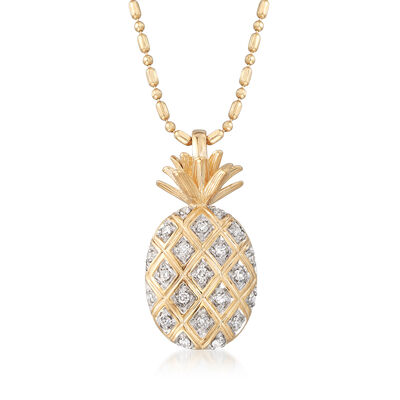 .10 ct. t.w. Diamond Pineapple Pendant Necklace