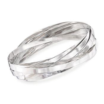 """Sterling Silver Rolling Bangle Bracelet . 8"""", , default"""