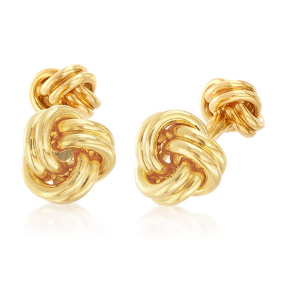 C. 1980 Vintage Tiffany Jewelry Men's 18kt Yellow Gold Cufflinks