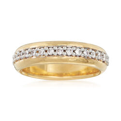 Italian Andiamo .10 ct. t.w. CZ Eternity Ring in 14kt Gold Over Resin, , default