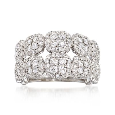 1.50 ct. t.w. Diamond Double Row Ring in 14kt White Gold, , default