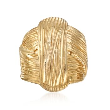 Italian 18kt Yellow Gold Over Sterling Silver Knot Ring. Size 5, , default
