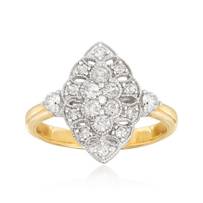 .62 ct. t.w. Diamond Ring in 14kt Two-Tone Gold, , default