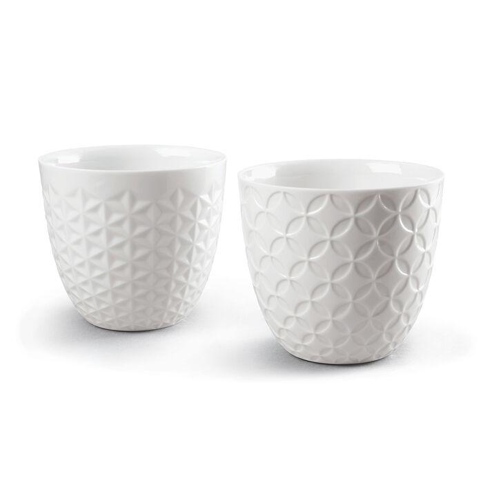 Lladro Set of 2 Porcelain Shochu Rock Tumbler Sake Cups