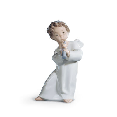 "Lladro ""Angel with Horn"" Porcelain Figurine, , default"