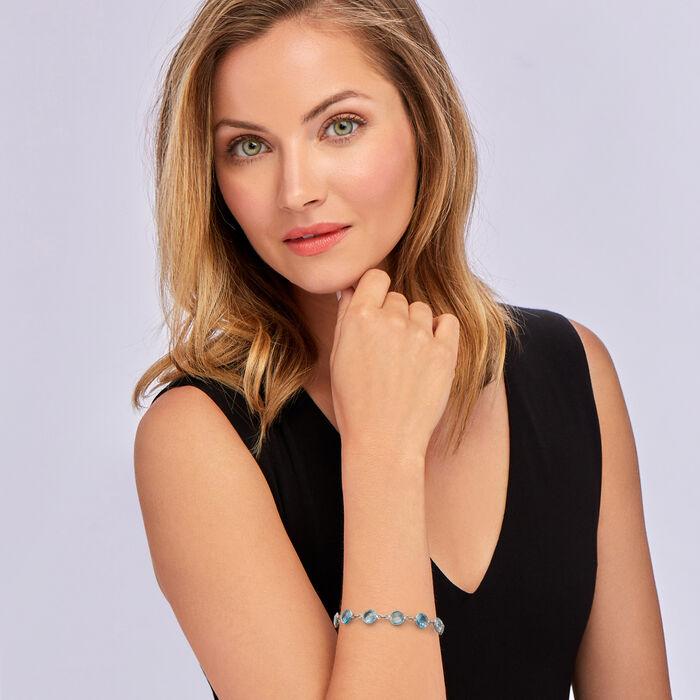 20.00 ct. t.w. Sky Blue Topaz Bracelet in Sterling Silver