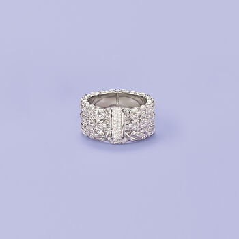 .10 ct. t.w. Diamond Byzantine Ring in Sterling Silver, , default