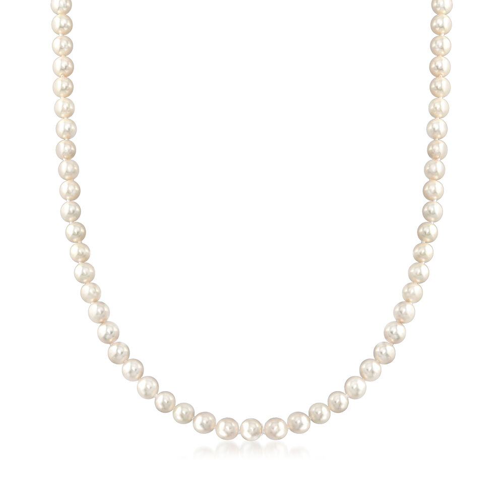 a31c8975e3c51 C. 1970 Vintage Mikimoto 3.5mm Cultured Pearl Necklace in 18kt Yellow Gold.  24.5