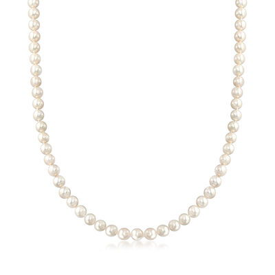 C. 1970 Vintage Mikimoto 3.5mm Cultured Pearl Necklace in 18kt Yellow Gold, , default