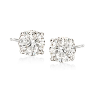 1.50 ct. t.w. Diamond Stud Earrings in 14kt White Gold, , default