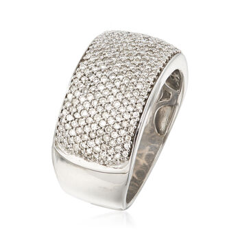 C. 1990 Vintage 1.00 ct. t.w. Pave Diamond Ring in 14kt White Gold. Size 7