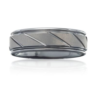 Men's 7mm Tungsten Carbide Wedding Ring, , default