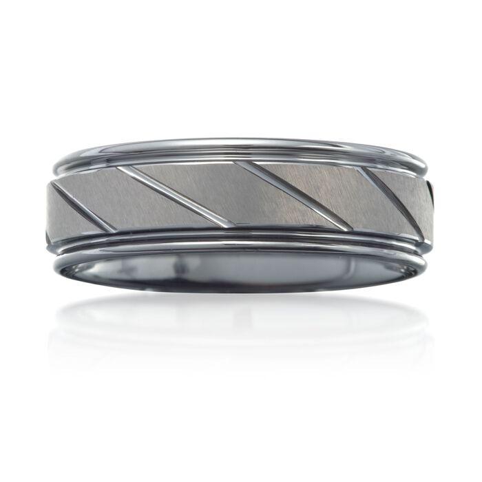 Men's 7mm Tungsten Carbide Wedding Ring, , default