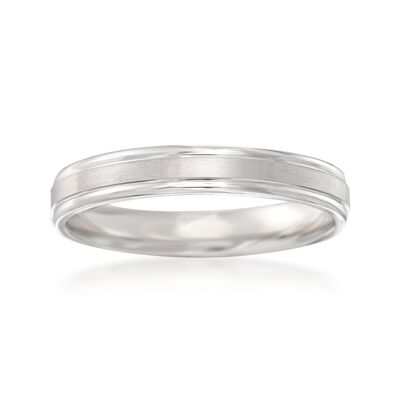 Men's 4mm 14kt White Gold Wedding Ring