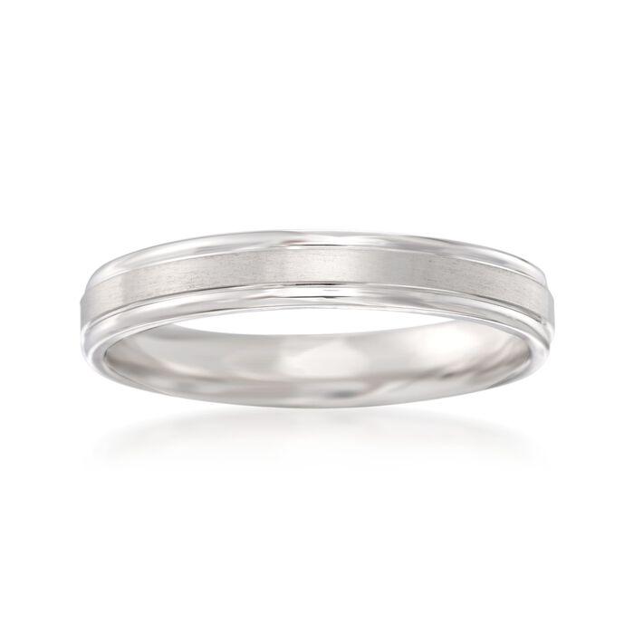 Men's 4mm 14kt White Gold Wedding Ring, , default