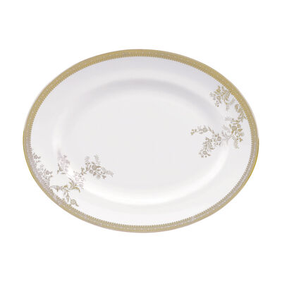 """Vera Wang for Wedgwood """"Lace Gold"""" Oval Platter, , default"""