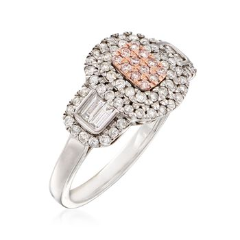.75 ct. t.w. Pink and White Diamond Ring in 14kt Two-Tone Gold, , default